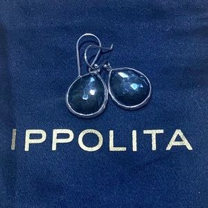 Ippolita mini tear-drop hematite earrings